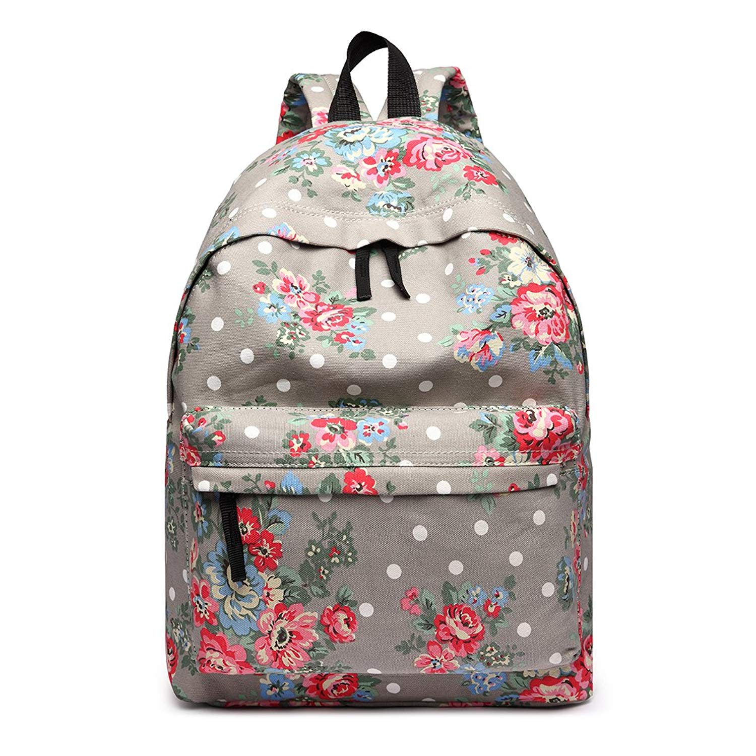 5078867f72 Get Quotations · Miss Lulu Large Canvas Daypack Backpack for School, Office  and Everyday