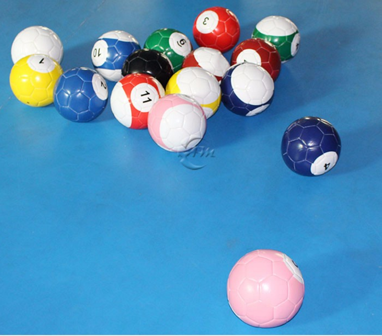 Inflatable Pool Table Soccer Inflatable Snooker Ballwith Triangle Game  Playground Field