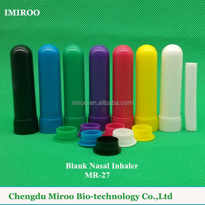7 color Blank Nasal Inhaler with Wicks D8xH51mm Parts For Filling Essential <strong>Oils</strong> (Four Parts Per set)