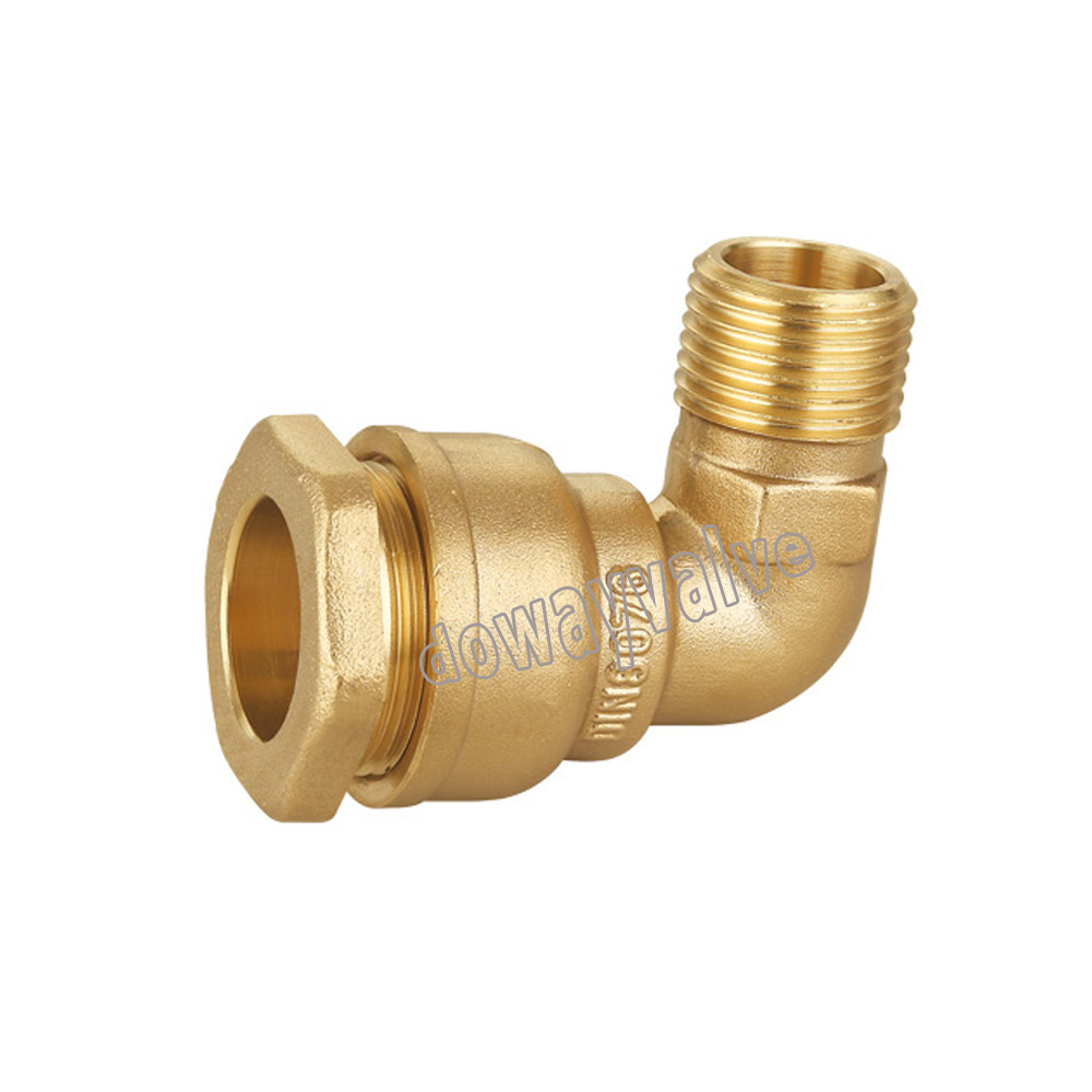 Brass Compression couplings for PE Pipe Male Elbow DW615