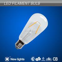 ST64 led vintage bulb 8W E27 B22 filament bulb