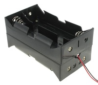 9v D cell battery holder for 8 batteries with 6'' wire leads, BH182A