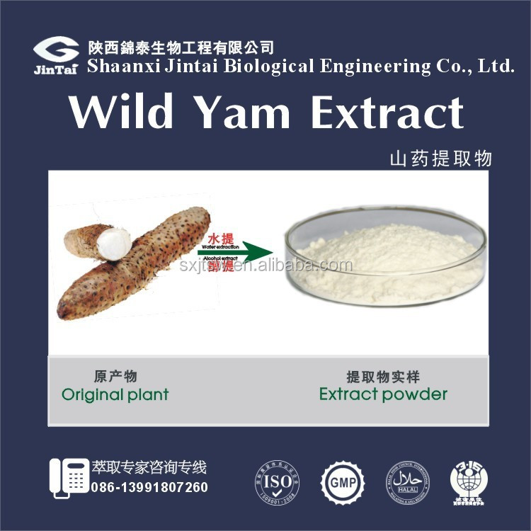 honghao GMP&ISO 100% natural diosgenin 6% 16% wild yam extract powder