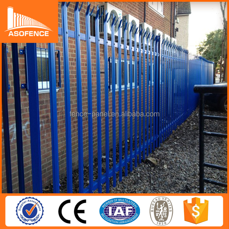 17 piece pale 2.4*2.75m size wall boundary steel fence panel