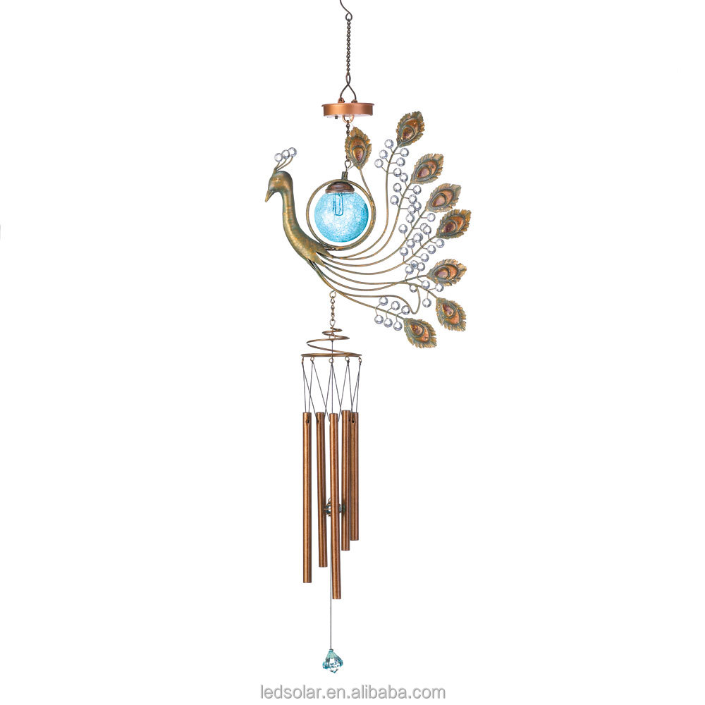 Wind Chimes with Solar Lights for Garden Decoration