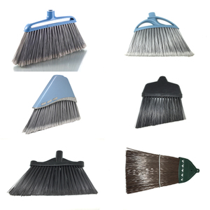 Heavy duty broom parts head types plastic wholesale cleaning angel yard garden house floor hand sweeping push broom