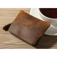 Universal Coin Wallet For Men And Women Vintage Key Bag Crazy-horse Leather Small Pouch