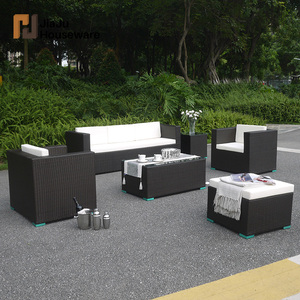 Outdoor rattan furniture fashion garden sofa PE wicker table set