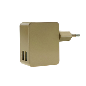 wholesale fast 5V 2.5A Rohs mobile phone travel 2 dual port usb wall charger with EU plug