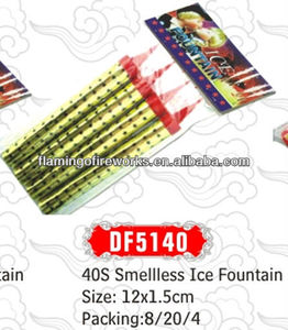 40sec Smelless Ice Fountain birthday candle fireworks
