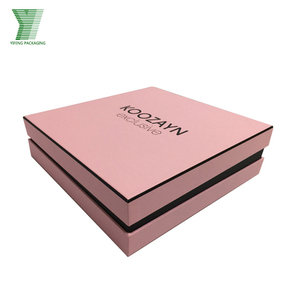elegant paper clothing package custom printed pink shirt box