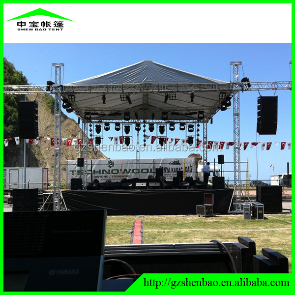 Outdoor stage truss portable interactive floor