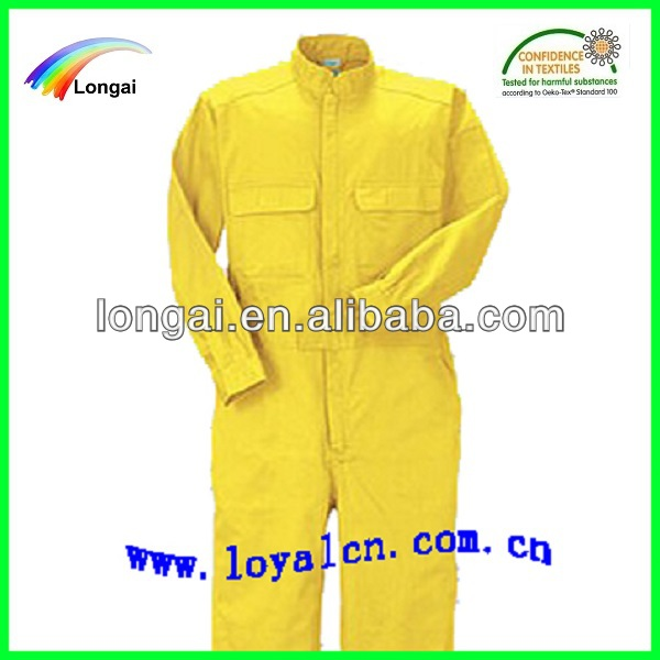 yellow man workwear coveralls from China