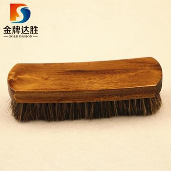Horse Hair Shoe Shine Brush Wooden For