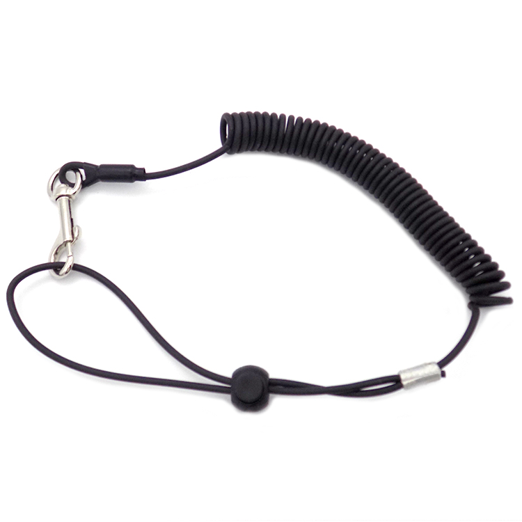 PU elastic phone ring spring lanyard safety lanyard for anti-lost