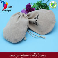 Customized pull string ecofriendly linen shell bags