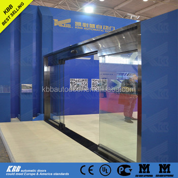 Kbb Automatic Sliding Doorframeless Panic Breakout Automatic Glass