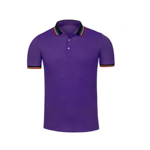 Top quality fashion cheap price free size cotton custom striped polo shirt sewing machine