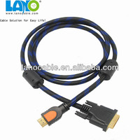 DVI to HDMI cable connecting computer and TV
