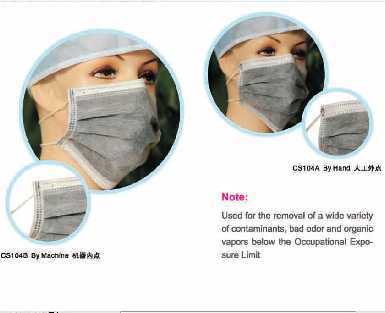 Disposable Not Cotton But Non-woven Half 4ply Active Carbon Face ...