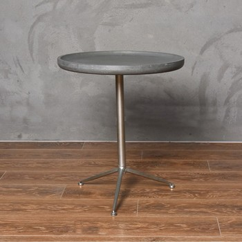 Japanese Vintage Style Cement Colored Coffee Table With Large Size