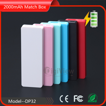 2016 super slim power bank 2000mah for all mobile phones, ultra thin power bank 2000mah