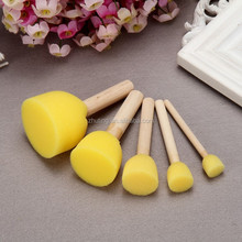 Kids diy art sponge brush round head foam paint brush 5siz/set