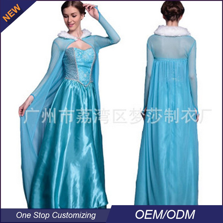 china wholesale factory price halloween sexy adult ELSA fancy dress costumes