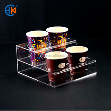 2-tier Acrylic Bottle Holder with Silk Printing Logo