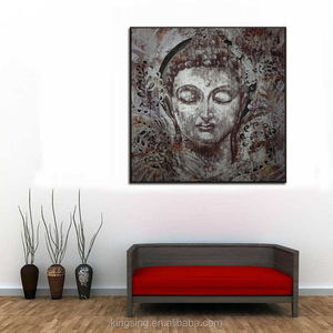 2018 Hot Item Cheap Price Handmade Buddha Oil Painting On Canvas For Living Room Decoration