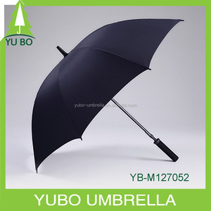 27inch high quality black waterproof golf umbrella