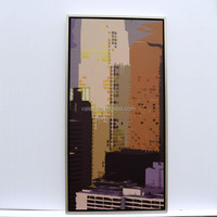 Abstract Silver Frame Pop Art Oil Paintings On Canvas For Sale