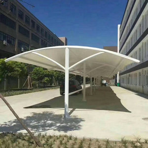 Teflon coated fabric roof shade membrane structure