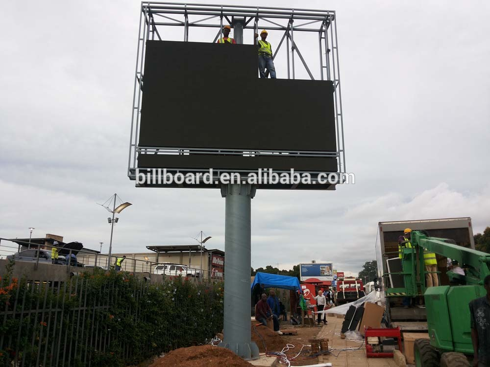 Outdoor Advertising Customized Steel Structure Led