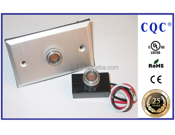UL certificate wire-in type garage door photocell with face plate, also good for street light switch for road light