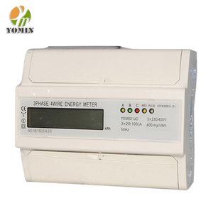 New Type Three Phase 7 Modules Power Smart Analog Digital Din Rail Electric Energy Meter Price/Kwh Energy Meter Digital 3 Phase