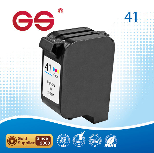 Remanufactured ink cartridge for hp 41 51641A