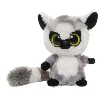 lovely customized Real fur big eyes cute plush toy soft stuffed plush raccoon animal