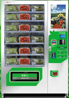 Fresh food merchandiser fresh vegetable and fruit vending machine