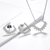 Silver Plated Jewelry Sets For Women CZ Diamond Bridal Wedding Heart Necklace Earrings China Jewellery Set Wholesale