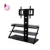 home furniture corner black glass tv stands