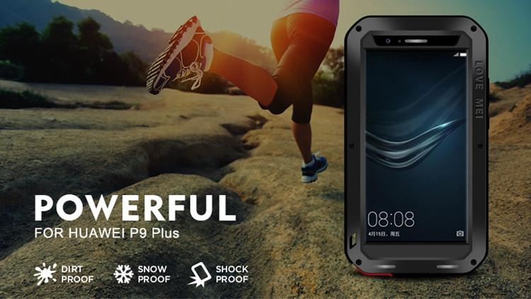 official photos b5e97 00bc9 New Love Mei Gorilla Glass Aluminum Metal Waterproof Case For Huawei P9  Plus Phone Cover Case - Buy Phone Case Waterproof For Huawei,Love Mei Power  ...