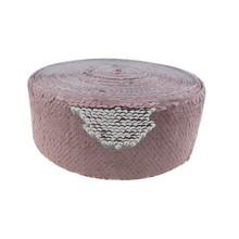 BOCA 50 ярдов 3 дюйма 75 мм Блестящий Фиолетовый-золотой цвет Реверсивный Стеклярус пайетки тканевая лента для платья банты DIY украшения(Китай)