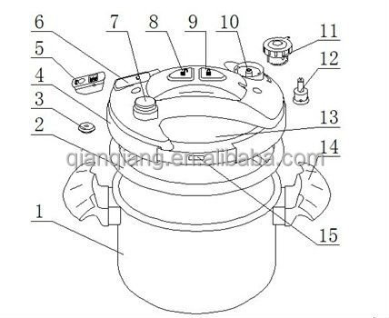 Ss Pressure Cooker Parts With Easy Openclose Button And Timer