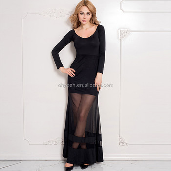 Hot Fashion 2016 Wholesale Plus Size Dress Black Velvet Evening