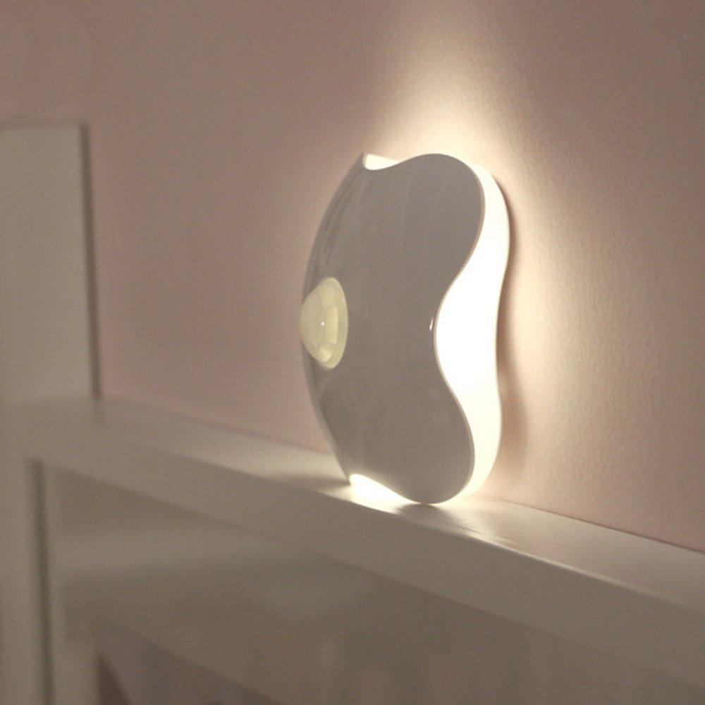 Get Quotations · Motion Sensor Night Light, Cordless Smart Battery Powered  LED Night Wall Light Stick