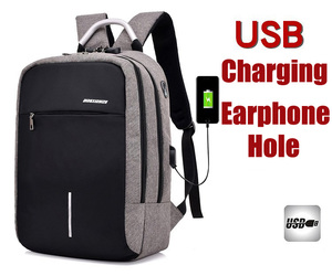 2018 New USB Charging Anti Theft Backpack for Man 15 inch Laptop Mens Backpacks Fashion Outdoor Sport Travel duffel School Bags