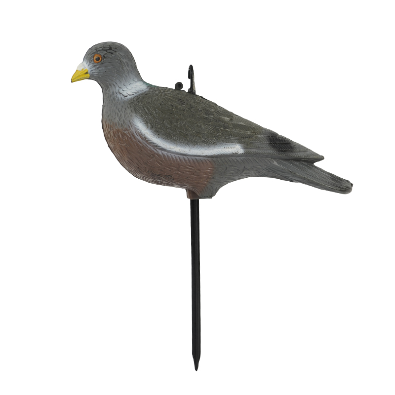201-1 Garden and home decoration plastic simulation animal used pigeon decoys with steel ground stake