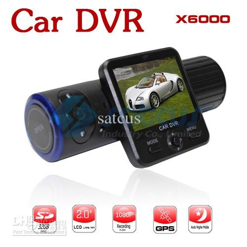 Двойные линзы автомобильный видеорегистратор GPS слежения датчика гравитации видеорегистратор 2.0