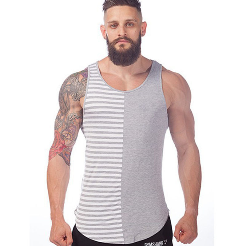 fadb661d2f767 Get Quotations · Bodybuilding Gym Men Captain Gymshark Singlets Mens Tank  Top Stringer Bodybuilding Golds Gym Cotton Sports Vest